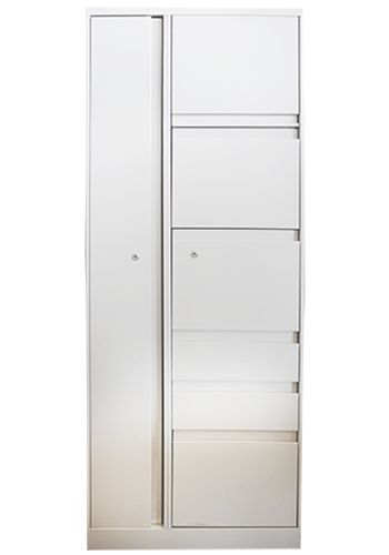 Steelcase 900 Series Wardrobe Tower RH (Cream)