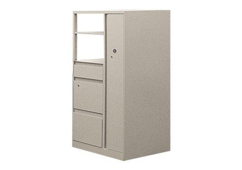 """53""""H Steelcase Wardrobe Tower (Cream)"""