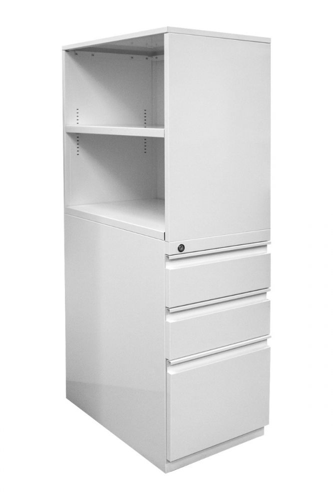 Open-Box Metal Arc Bookcase Tower (Appliance White) LH