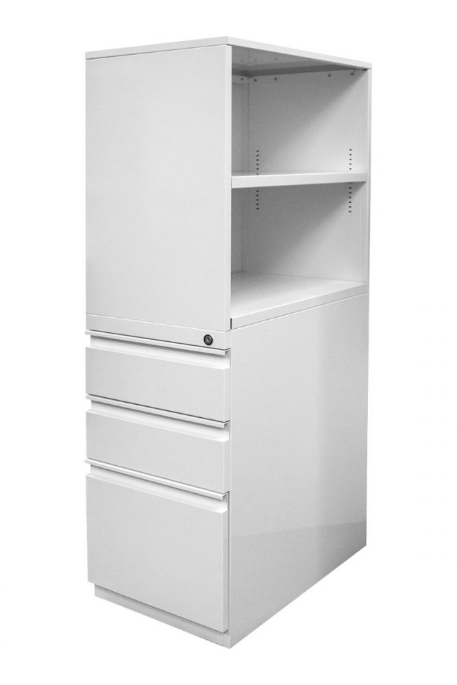 Open-Box Metal Arc Bookcase Tower (Appliance White) RH