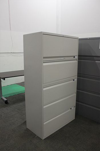 """Teknion 5H 36""""W Lateral File (Light Grey)"""