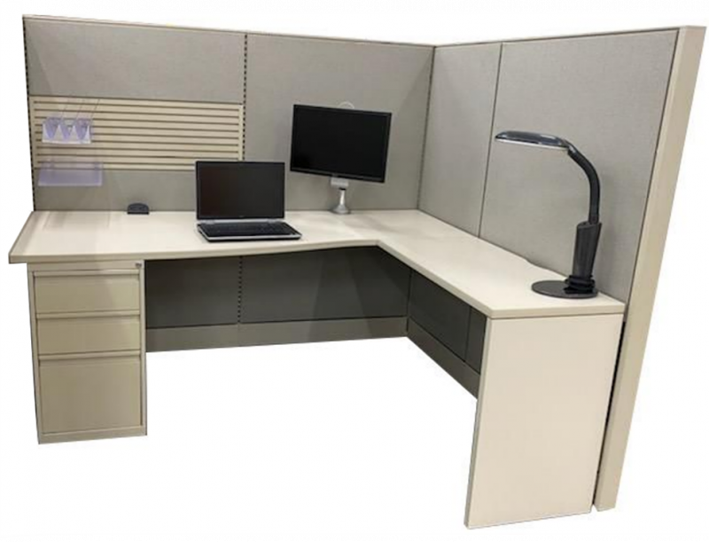"""Refreshed Global Evolve Workstation 5'D x 6'W x 60""""H (Right-Handed)"""