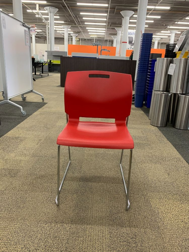 Global Sled Base Stack Chair (Red)