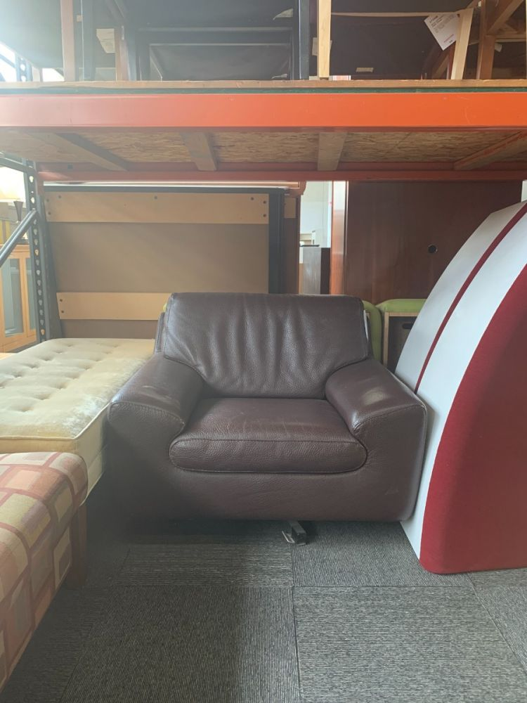 Roche Bobois Lounge Chair (Brown)