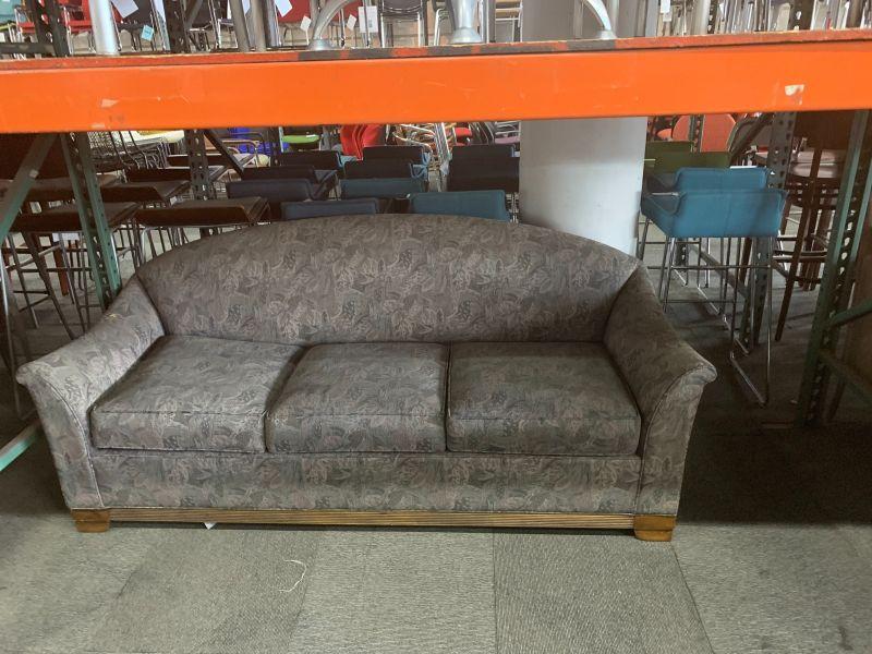 """74"""" HBF Sofa (Violet Leaf Patterns)"""