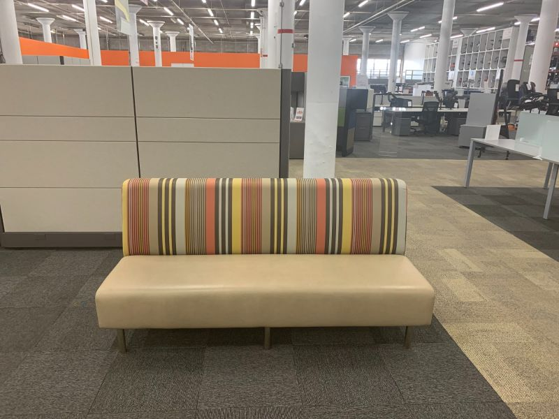 Erg International Sofa (Stripes/Tan)