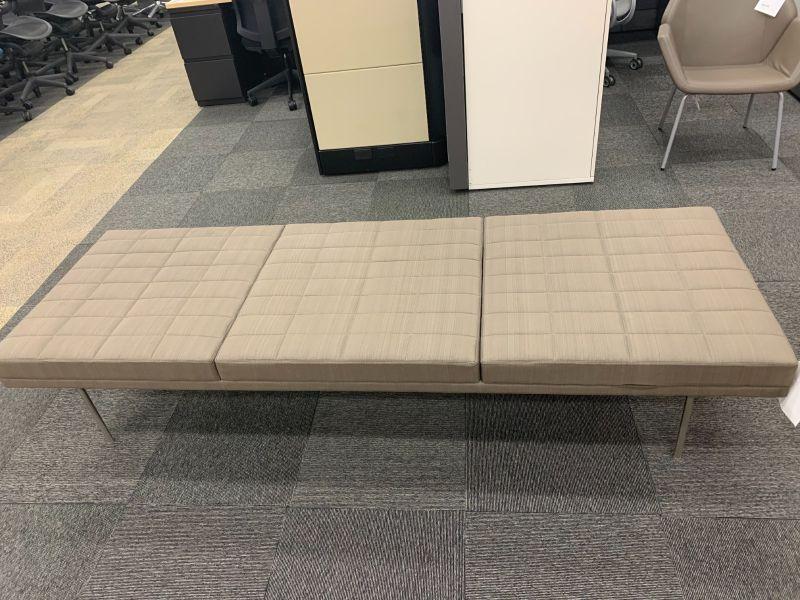 7' Geiger Three-Seat Bench (Grey Stripes)