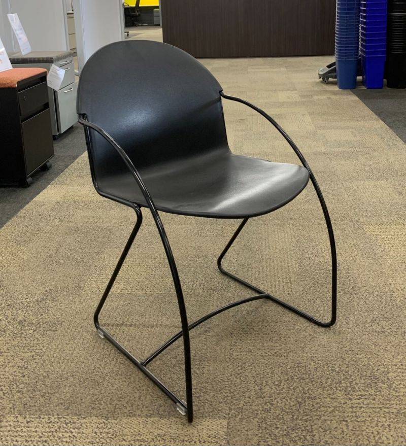 Steelcase Parade Stack (Black) w/ Armpads