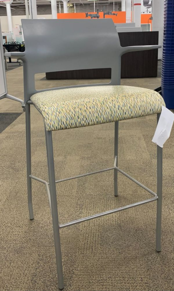 Steelcase Move Stool (Tan Rectangles)