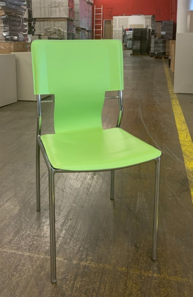 Zuo Trafico Dining Chair (Green Leatherette)