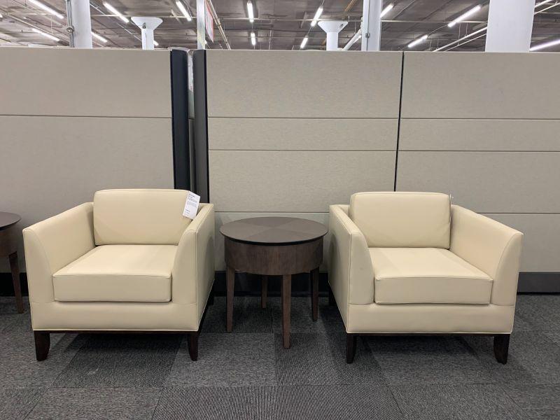 Pair of Bernhardt Lounge Chairs (Momentum Foray Dew)