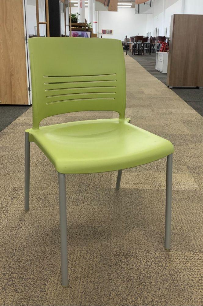 KI Strive Armless Stack Chair (Green)
