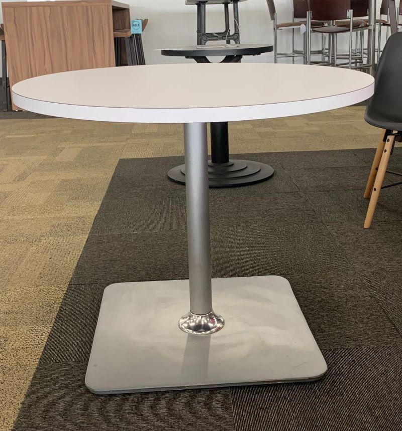 3' Shelby Williams Round Café Table (White Laminate)