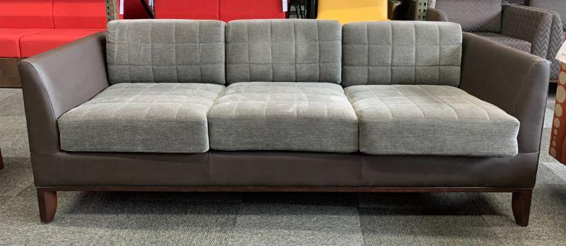 Bernhardt Three-Seat Sofa (Grey/Dark Brown)