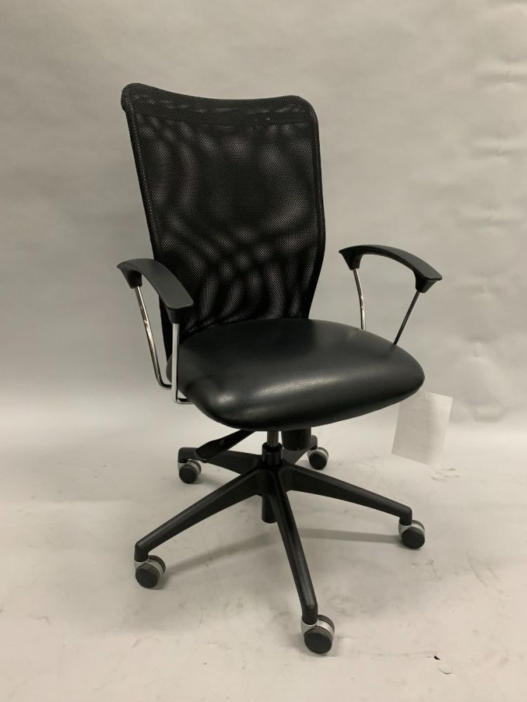 Allseating Inertia Conference Chair (Black Mesh/Black Leatherette)