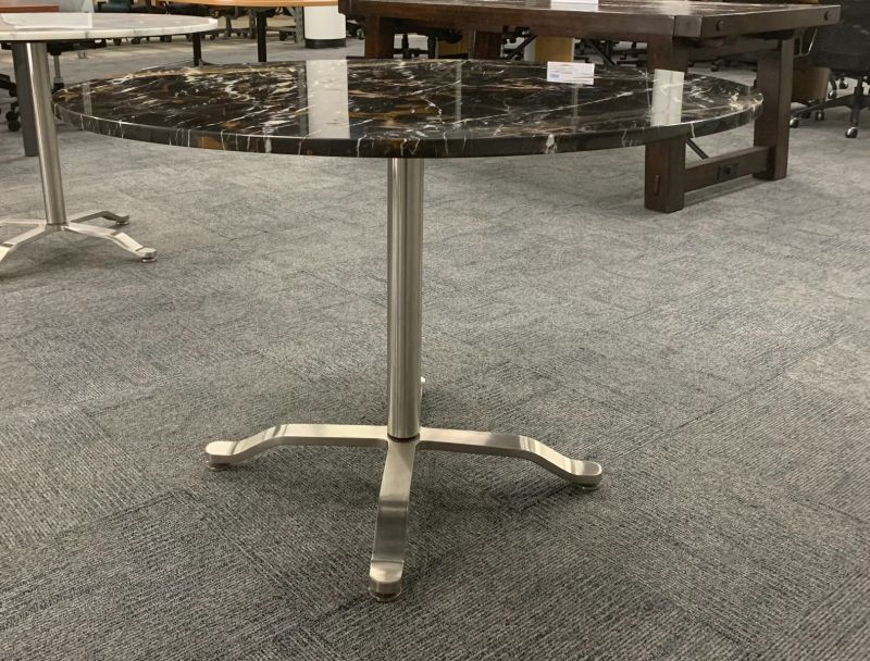 3.5' Round Conference Table (Lucas Gold Marble)