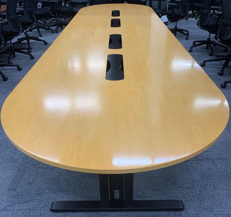 16' Racetrack Conference Table (Maple Veneer)
