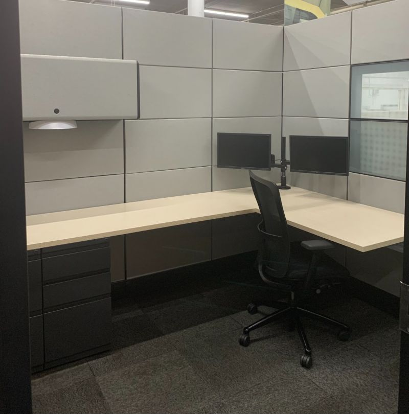 "ReNewed Herman Miller Ethospace Workstation (7.5'D x 8.5'W x 86""H)"