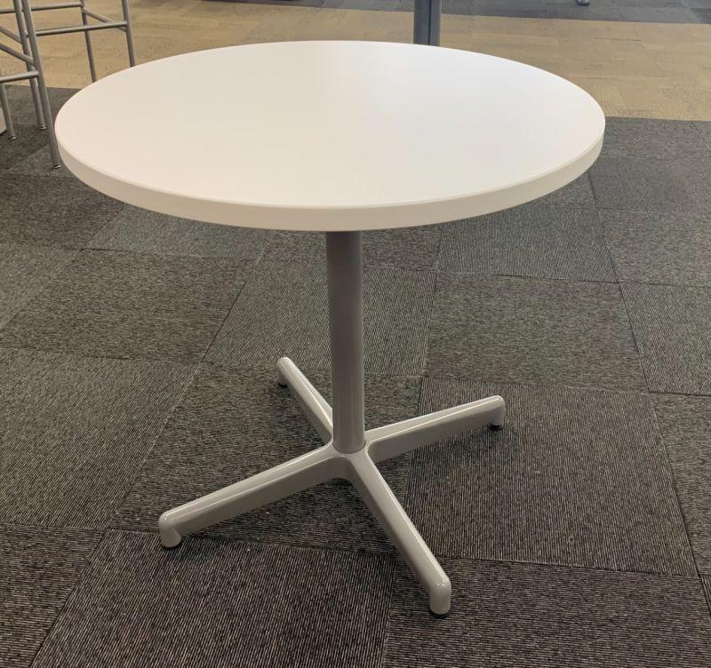 2.5' Round Café Table (White Laminate)