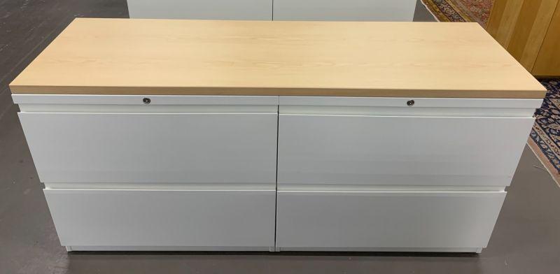 5' Haworth Credenza (Maple/White)