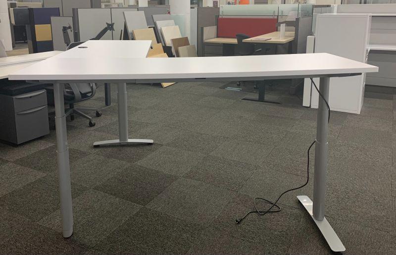 Refreshed Height Adjustable L-Shaped Desk