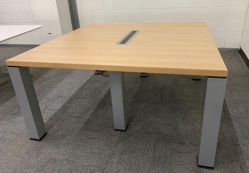 "59"" Square Teaming Table (Oak Laminate)"