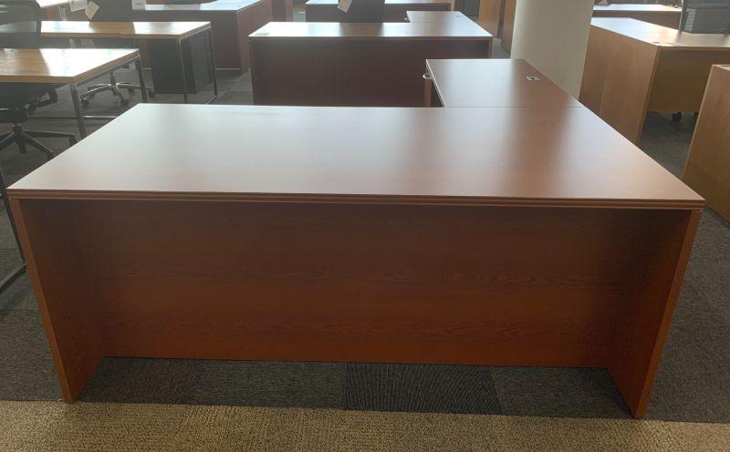 OFS L-Shaped Desk (Cherry Veneer) LH