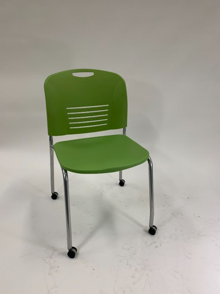 Safco Vy Mobile Side Chair (Green)