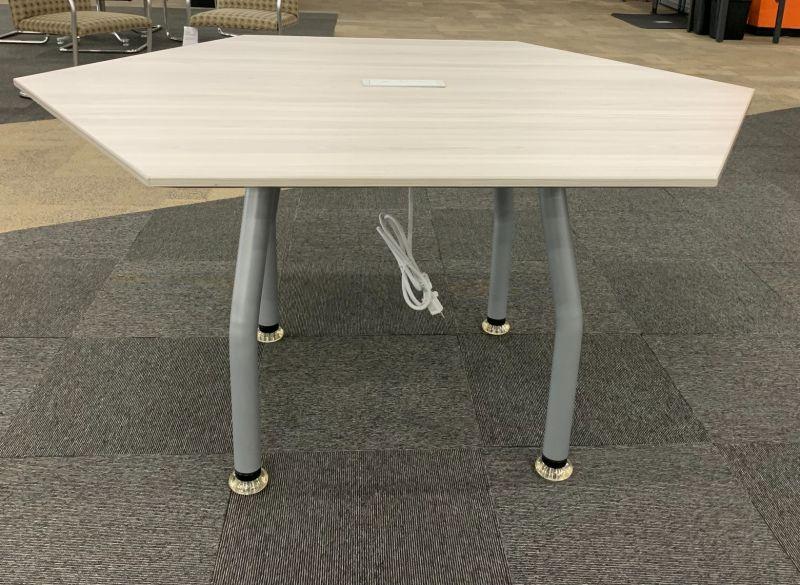 5' Enwork Zori Hexagonal Conference Table (Grey Elm)