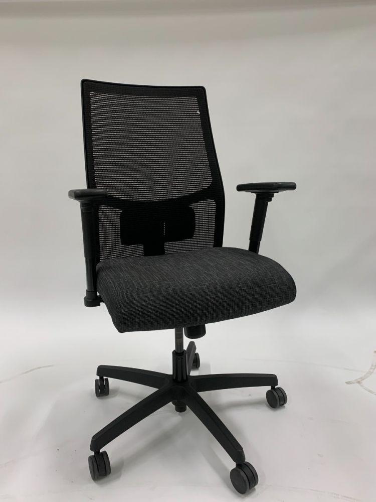 HON Ignition Task Chair (Black Mesh/Black Grid)