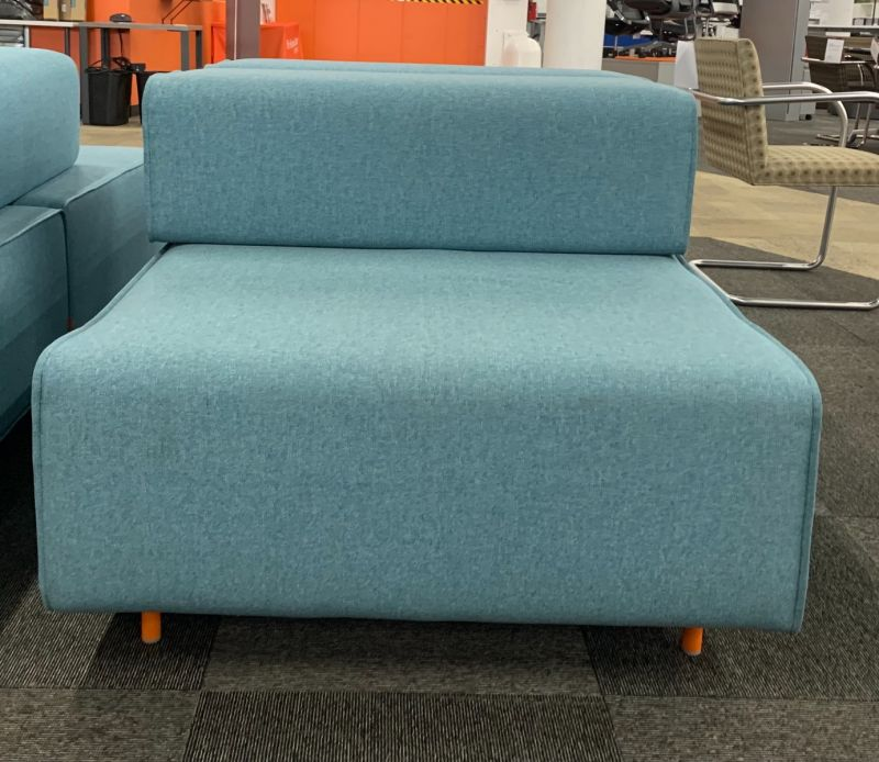Poppin Block Party Lounge Chair (Teal)