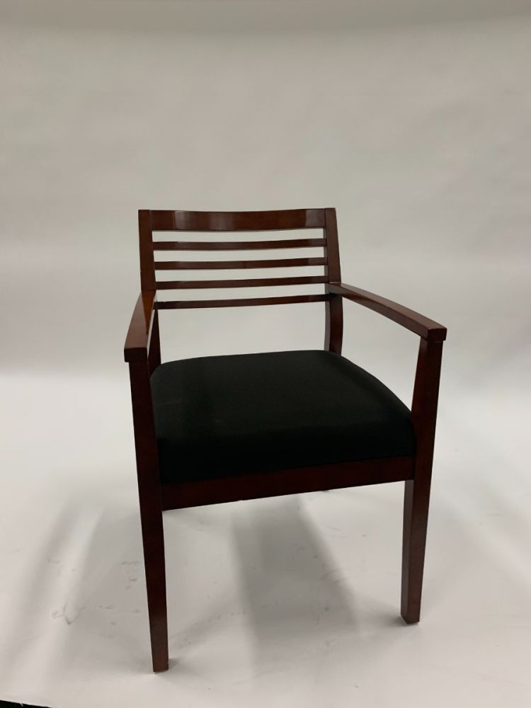 Compel Cherry Wood Side Chair (Black)
