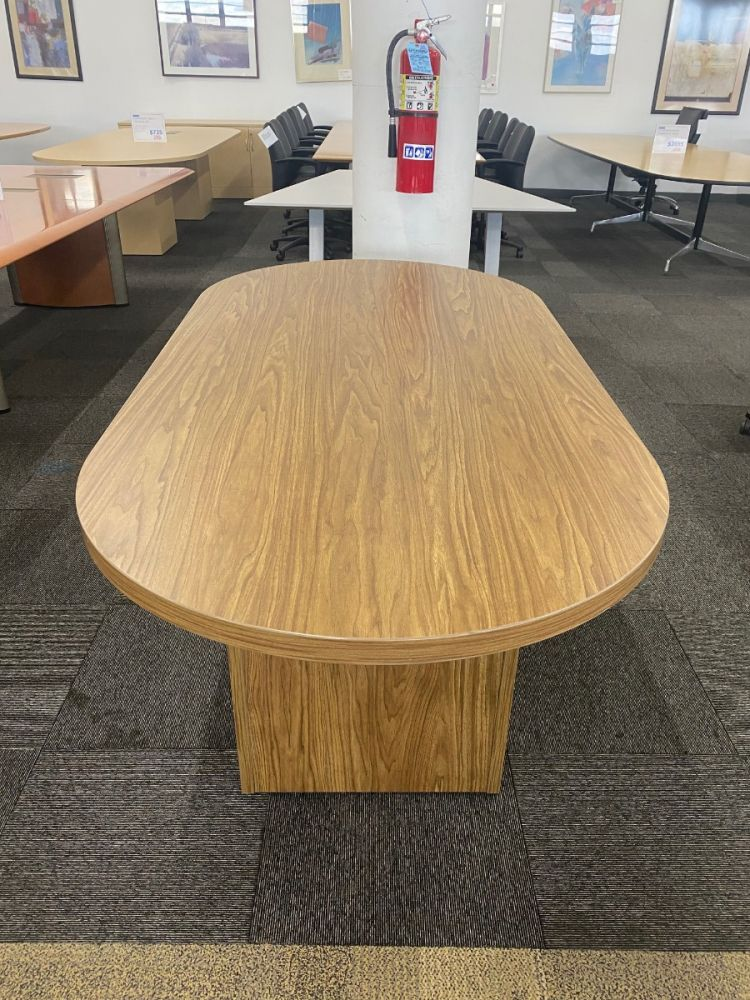 6' Lacasse Racetrack Conference Table (Light Walnut)