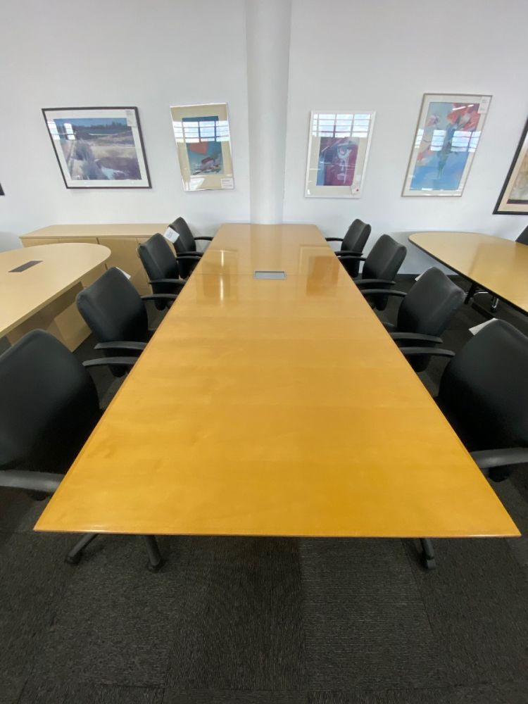 12' Rectangular Conference Table (Maple Veneer)