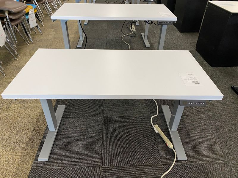 4' Rectangular Adjustable-Height Table Desk (White)
