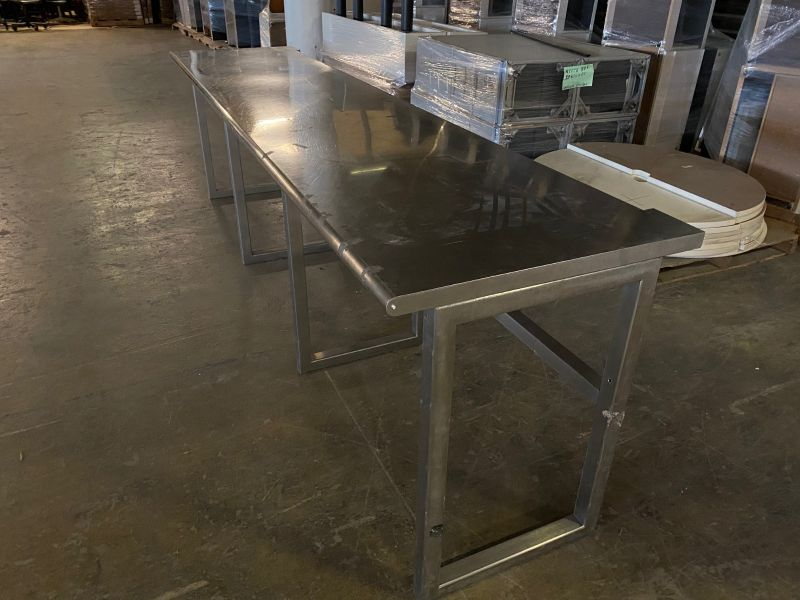 """128"""" Utility Table (Stainless Steel)"""