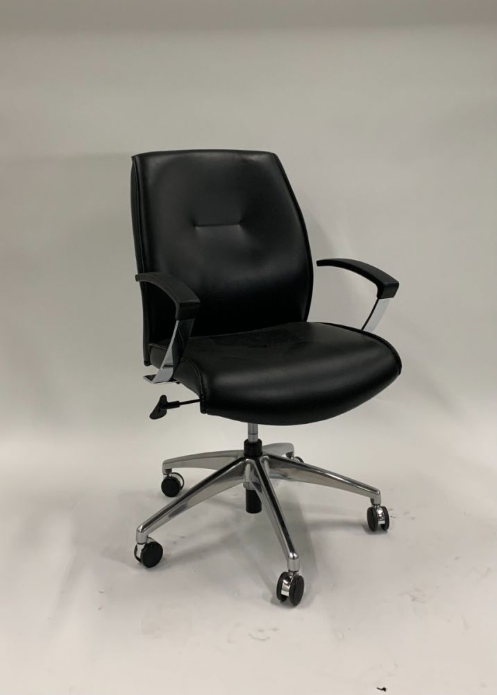 Conference Chair (Black Leatherette)