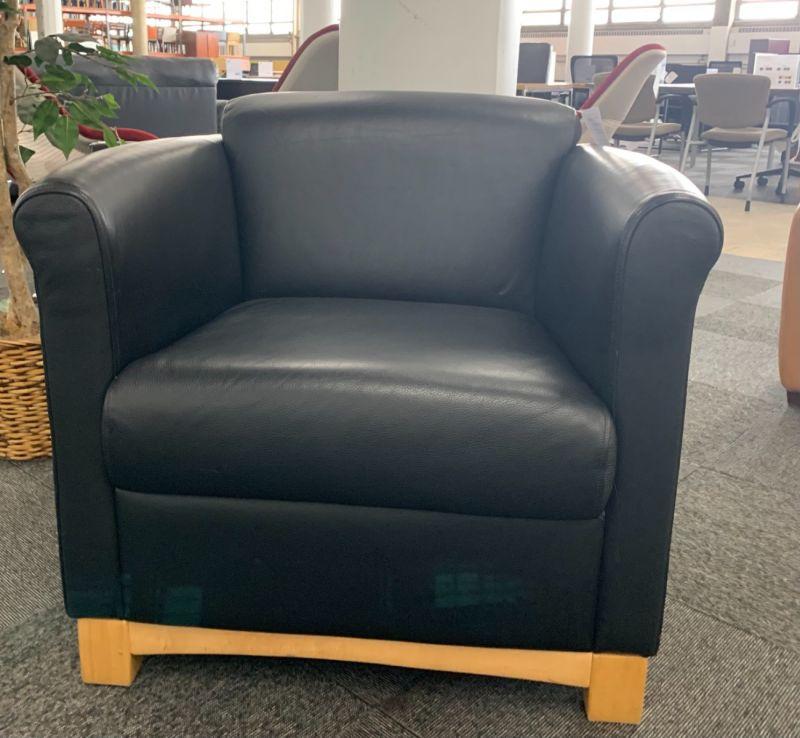 Brayton Lounge Chair (Black Leatherette)