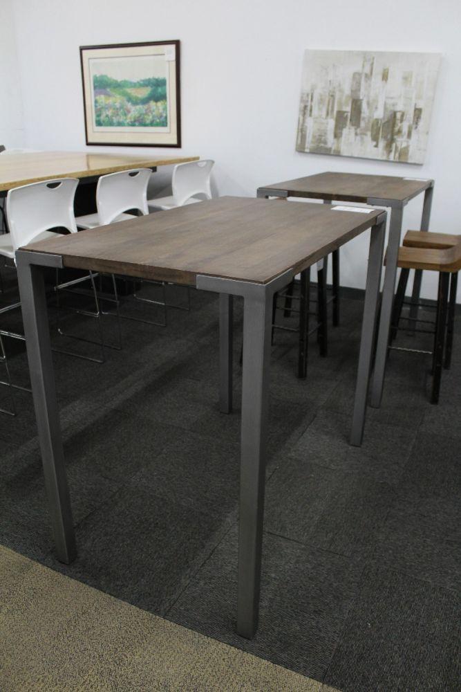 4' CB2 Stilt Rectangular Cafe Table (Mahogany)