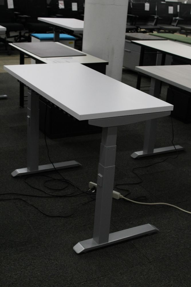 4' Compel  Rectangular Adjustable-Height Table Desk (White)