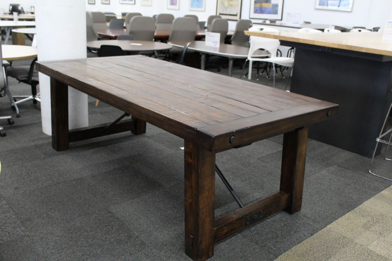 "86"" Rectangular Conference Table (Wood Plank)"