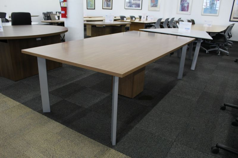 8' Haworth Rectangular Conference Table (Walnut Veneer)
