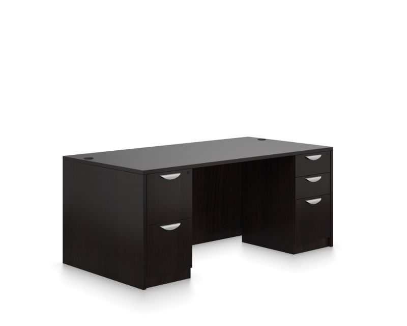 Rectangular Double Full Ped Desk