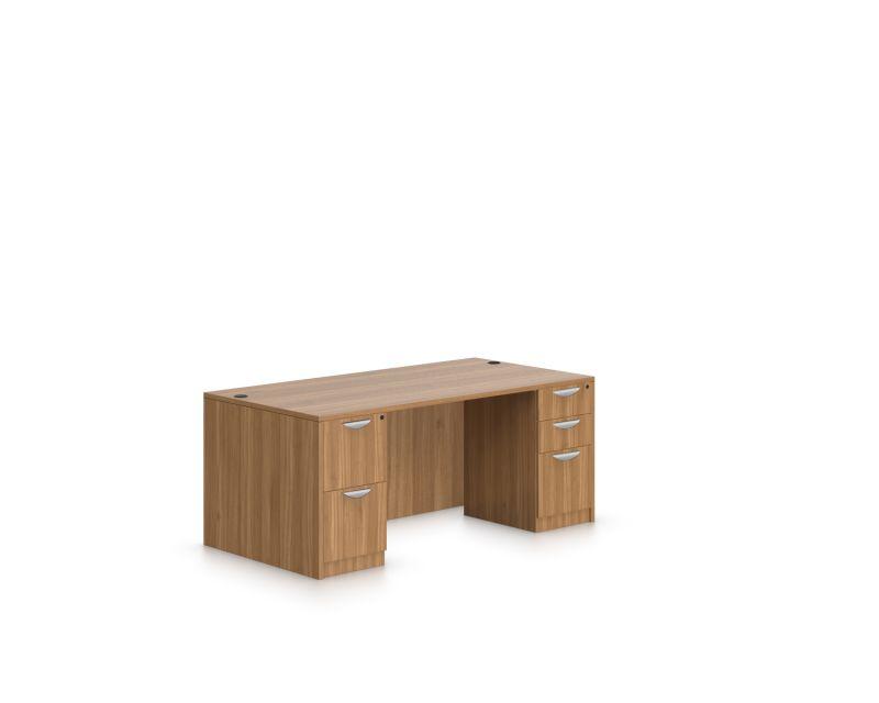 Rectangular Double Full Ped Desk