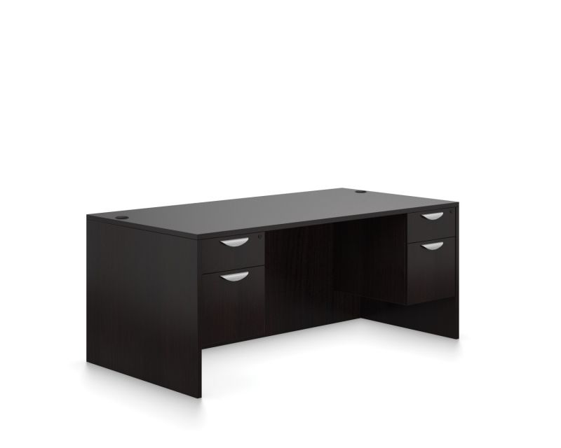 Rectangular Double Short Ped Desk