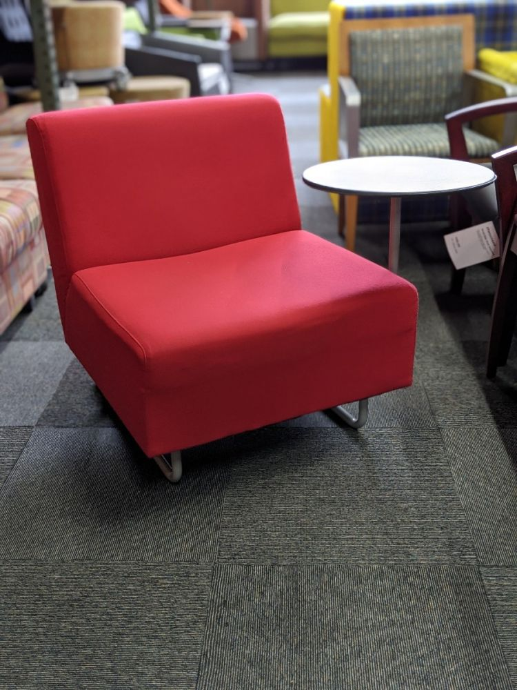 Metro Tablet Arm Lounge Chair (Red) LH