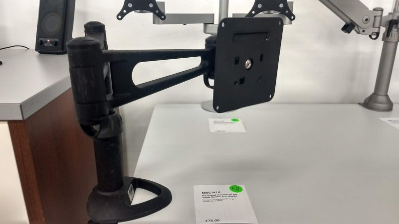 Pre-owned Humanscale M7 single monitor arm in Black.