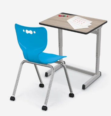 Mooreco New Student Desk with Caster Chair Bundle