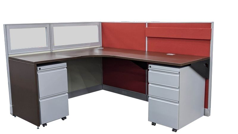 """Certified Pre-owned Group Lacasse Nvision LH Workstation (5'D x 6'W x 44""""H)"""