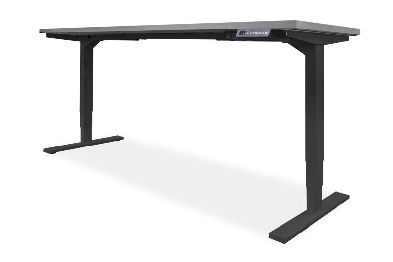 "NEW OFCHite 30""D x 48""W Adjustable Height Desk (Black Base)"